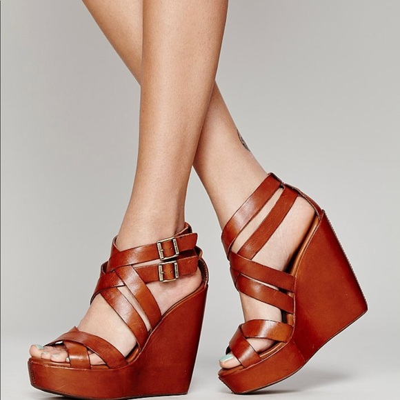 da838694d75 Kork-Ease Shoes - Kork-Ease Hailey Rust Wedge Sandals Platforms 9